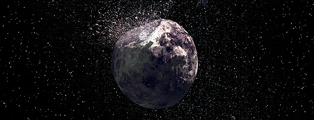 El impacto en Vesta