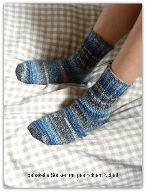 Pfiffigstes Häkelblog: Socken stricken und häkeln