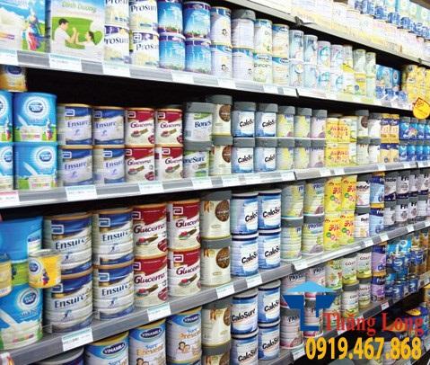 Giá kệ trưng bày sữa hộp nhập ngoại