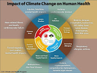 Impact of Climate Change on Human Health (Credit: apha.org) Click to Enlarge.