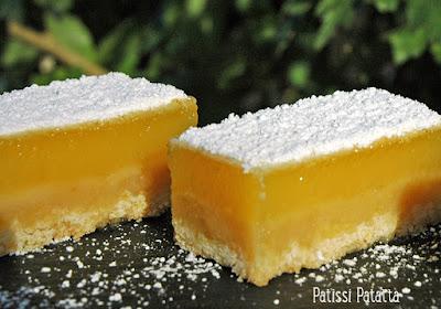 barres au citron, dessert au citron