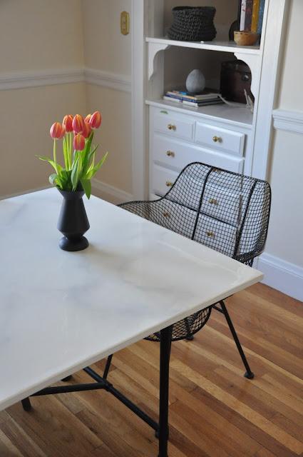 RestlessOasis DIY Faux Marble Dining Table Ikea Hack : DSC57262Bcopy from restlessoasis.blogspot.com size 425 x 640 jpeg 63kB