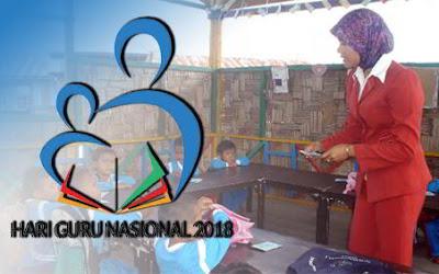 Logo dan Tema Hari Guru Nasional 2018 Format JPG, PNG, PSD, CDR
