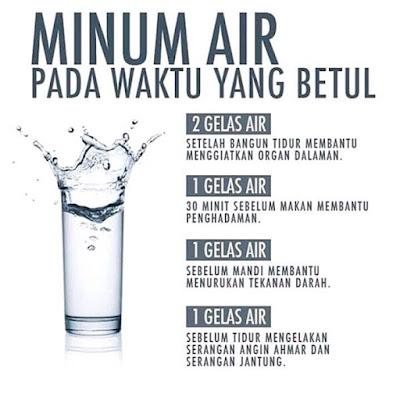 Minum air kosong  mengikut masa