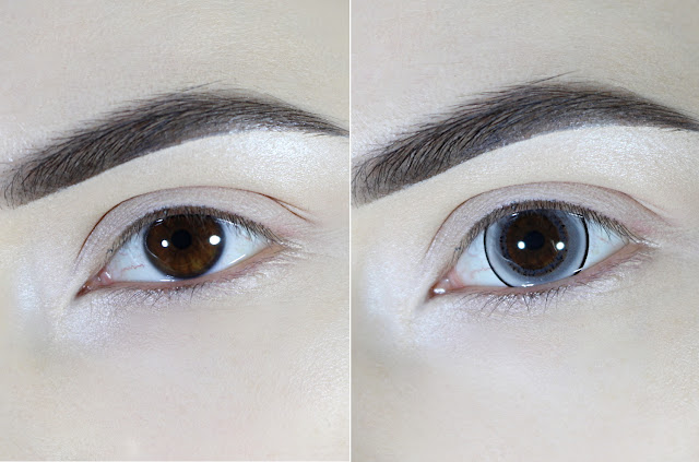 big anime eyes makeup circle lens contacy before after effect
