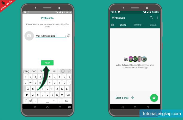 tutorial lengkap membuat akun whatsapp bagi pemula