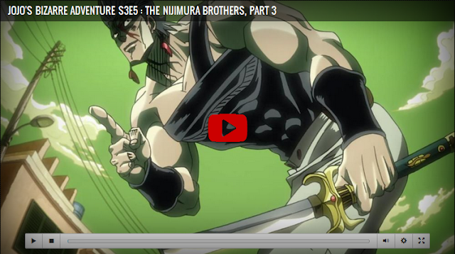 JoJo's Bizarre Adventure Season 3 Episode 5 The Nijimura Brothers