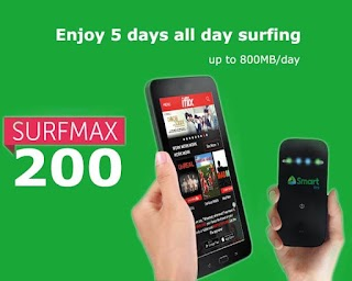 Smart SurfMax 200 – 5 Days Surfing that cost you Only 40 Pesos Daily