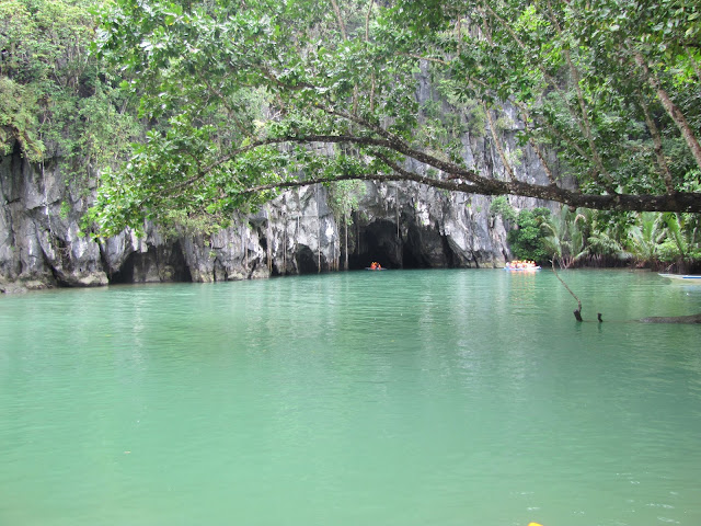 underground river entrance puerto princesa philippines palawan