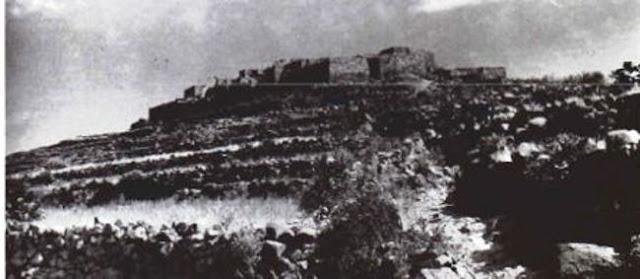 قرية بحقولها المصطبة بجبل السودة 1946م
