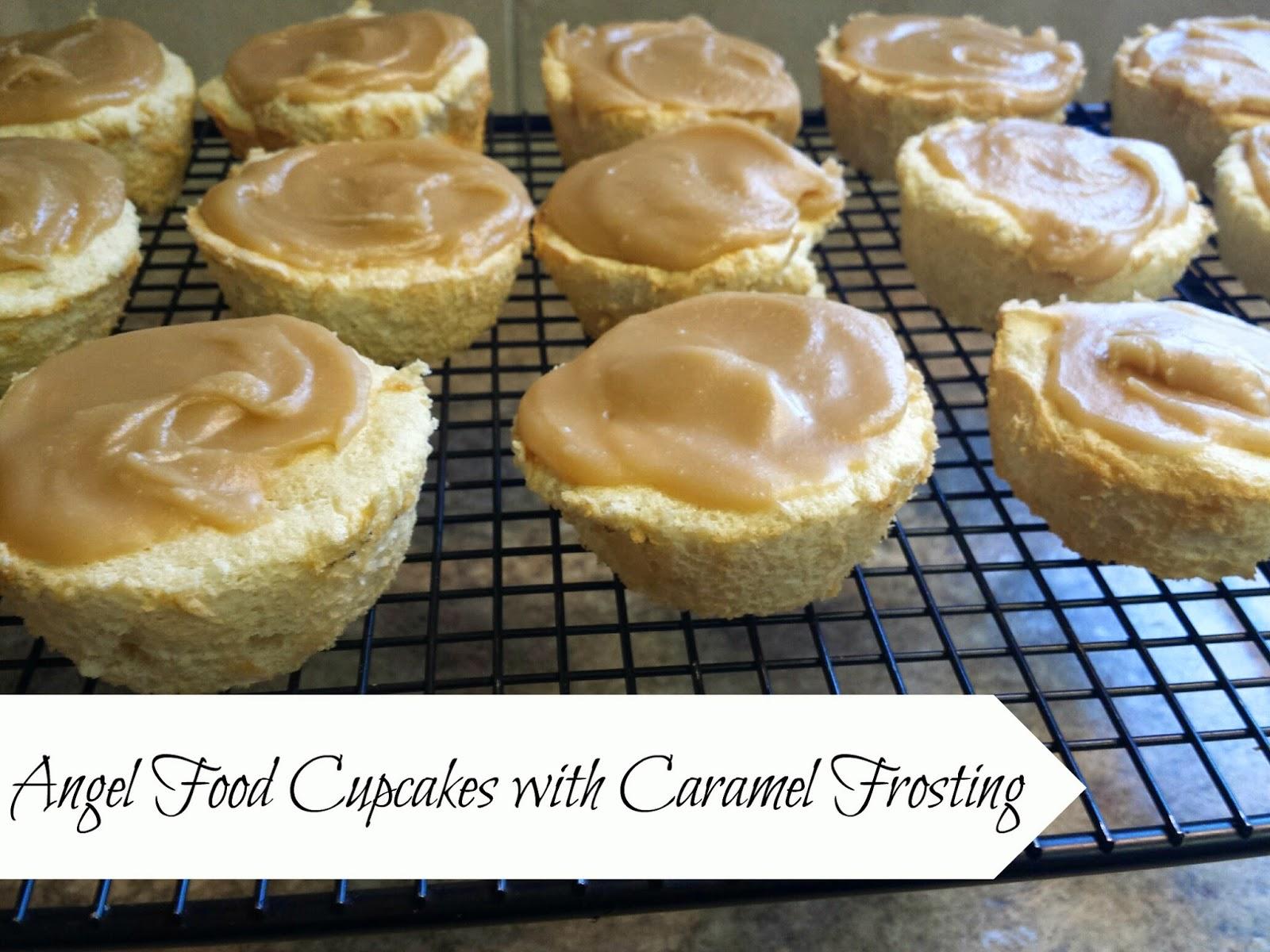 ... Saturdays: Angel Food Cupcakes with Grandma Lois Caramel Frosting