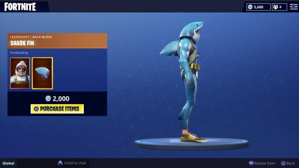 Fortnite's New Legendary Shark Skin: 'Chomp Sr'