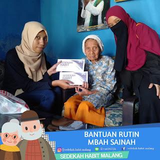Mbah Sainah : Bantuan Rutin