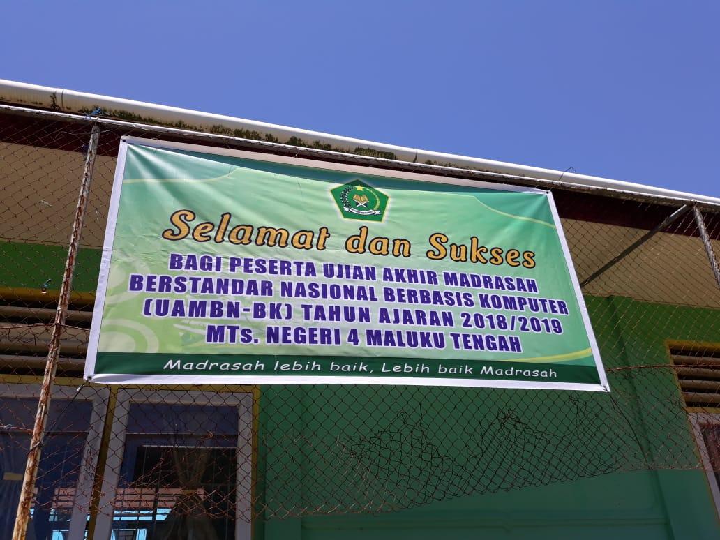 Tanpa Komputer, MTsN 4 Maluku Tengah Numpang Ujian UAMBN-BK 2018/2019