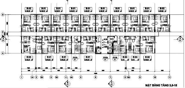 Sơ đồ chung cư B1.3 Tòa T2 Thanh Hà