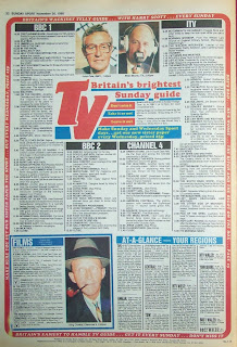 Back cover of an old Sunday Sport newspaper from 20th Nov 88