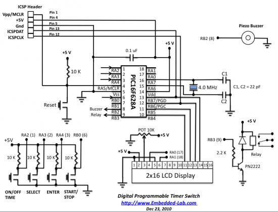 PP.TRAT: เครื่อตั้งเวลา แสดงผลโดย LCD 16x2