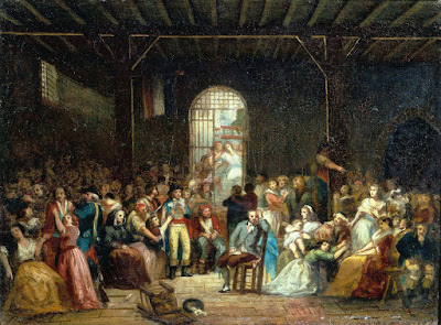 Charles-Louis Muller - Llamada a las últimas víctimas del Grande Terreur en la prisión de Saint Lazare - 1794