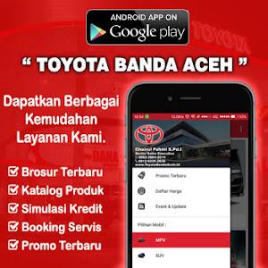 Aplikasi Android Toyota Dunia Barusa Banda Aceh, Medan, Sumatra Utara