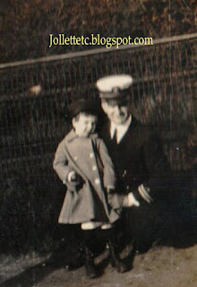 John Jr about 1921 with unknown man  New York  https://jollettetc.blogspot.com