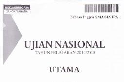 SOAL UN SMA IPA 2015 (13-15 April 2015)