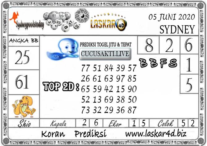 Prediksi Togel SYDNEY LASKAR4D 05 JUNI 2020