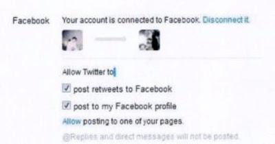 menghubungkan twitter ke akun facebook 3