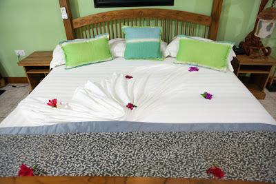Bett im Patatran Village