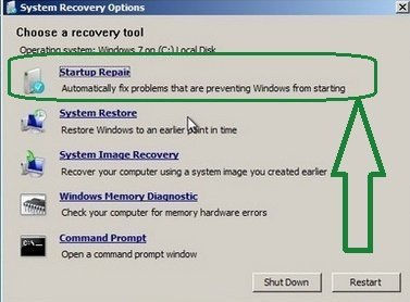 Repair Windows 7