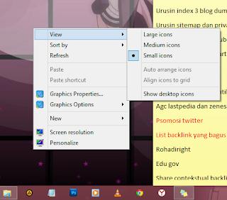 matikan icon desktop windows untuk mengatasi kursor mouse loading terus