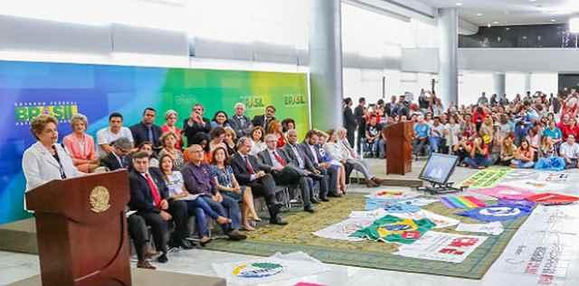 Presidenta Dilma Rousseff fez duro discurso republicado pela Aldeia