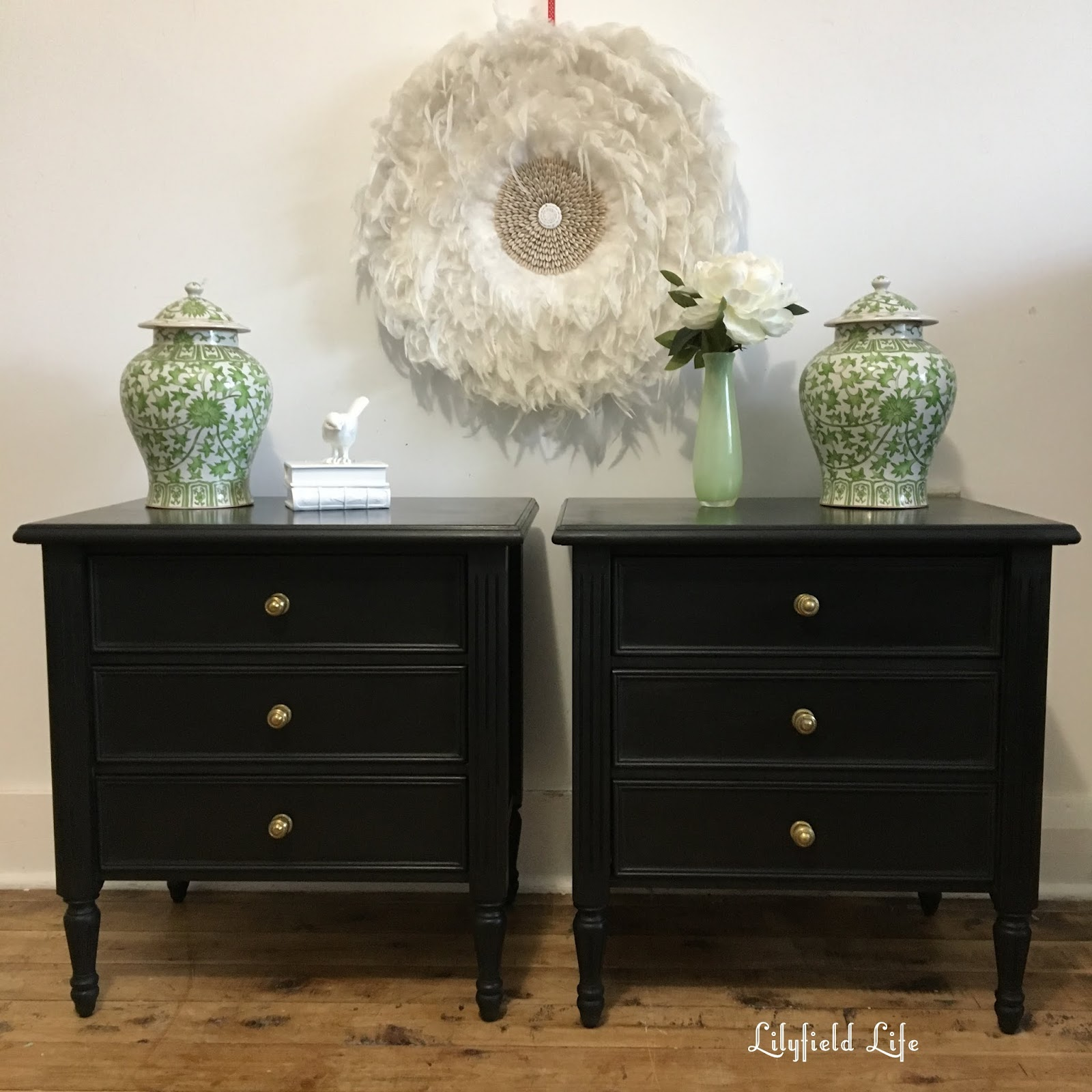 Vintage bedside table ideas - Black Vintage Bedside Tables Lilyfield Life