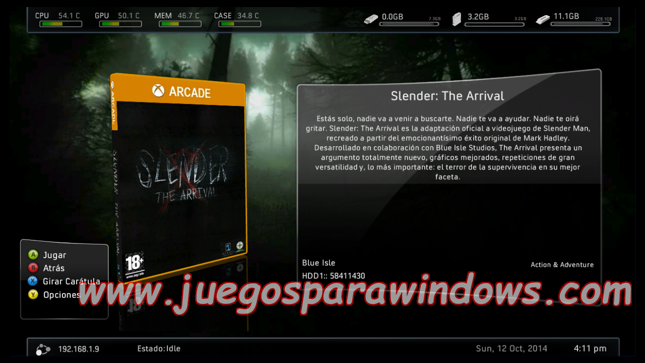 Slender The Arrival XBOX 360 (XBOX LIVE ARCADE) (RGH/JTAG) 2
