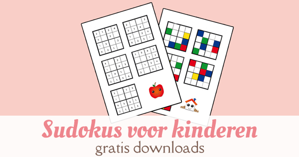 sudokus slimme kleuters gratis download