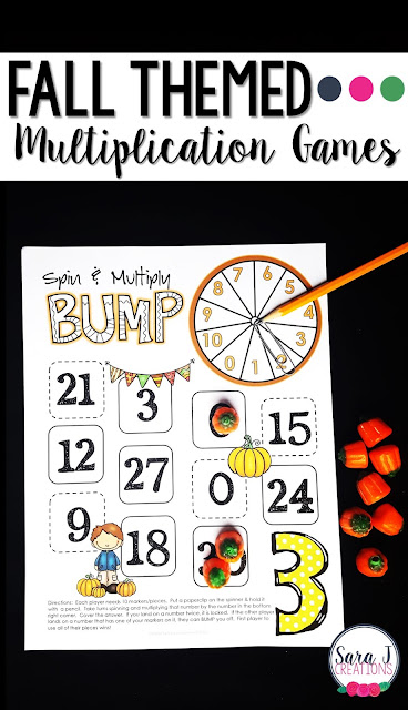 Fall multiplication games for learning fun!