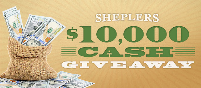 Sheplers Western Wear & Cowboy Boots wants you to enter once for your chance to win their CASH PRIZE GIVEAWAY, where one lucky winner will walk away with $10,000!