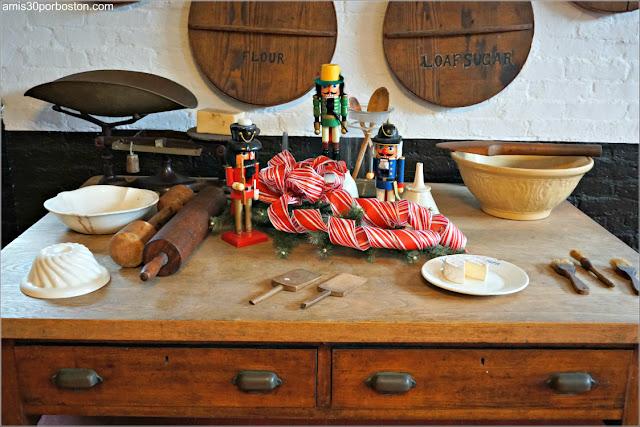 Zona Pastelería en la Cocina de Marble House, Newport