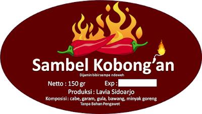Label sambel kobong'an