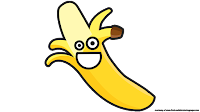 happy banana cartoon clipart