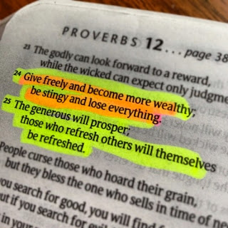 Leef je geloof, Hillie Snoeijer, Spreuken 11:24-26