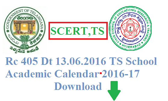 Rc 405 TS School Academic Calendar 2016-17 Download