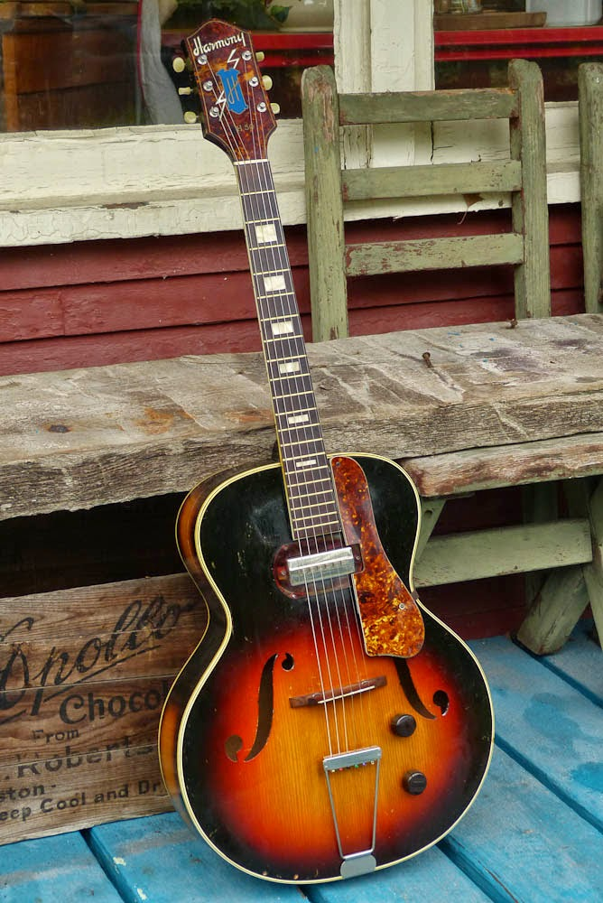 harmony h 50 archtop electric guitar. Black Bedroom Furniture Sets. Home Design Ideas