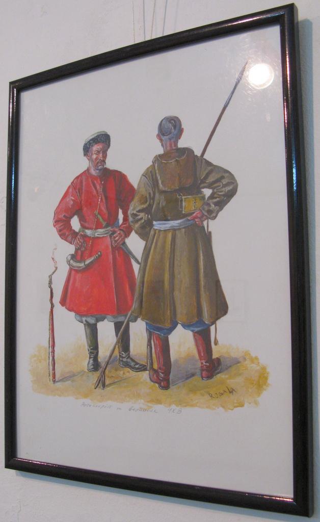 Артилерист та кіннотник Чорноморського козацького війська. Реконструкція  згідно з зображеннями тієї доби 9d0ef87244f44