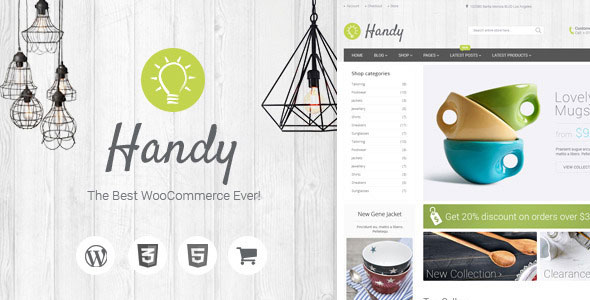 Free Download Handy Handmade Shop WooCommerce WordPress Theme