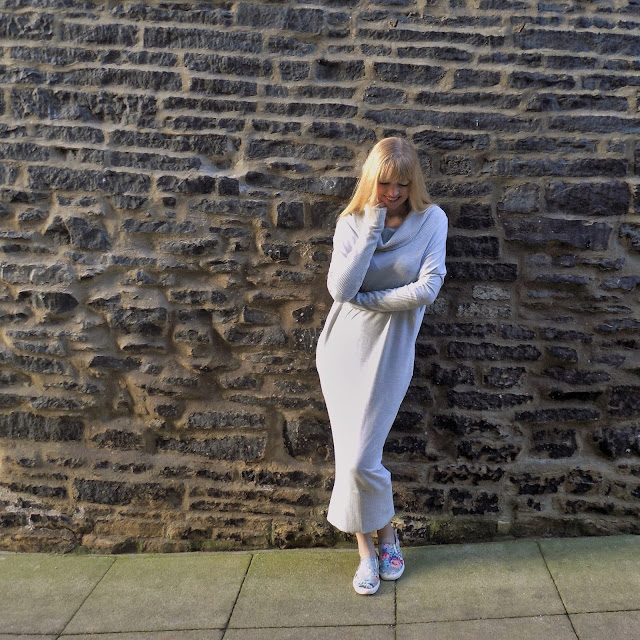 Off duty maxi sweater dress