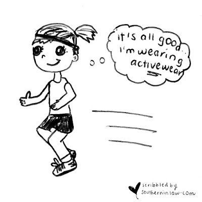 The Truth About Running and Activewear - Girl Running Cartoon