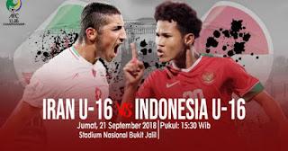 Jadwal Timnas Indonesia U-16 vs Iran - Piala Asia 2018 Malaysia
