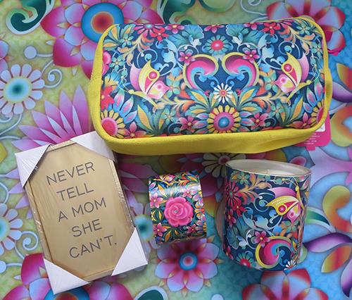 Celebrate Mother's Day with Hallmark #LoveHallmarkCA Catalina Estrada Blue Rose Cosmetic Bag