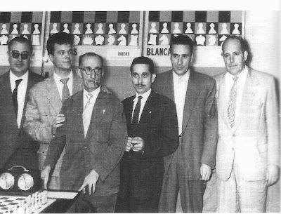 Cherta, Anguera, Joaquim Gil -capitán-, Beltrán, Albareda y Ribera
