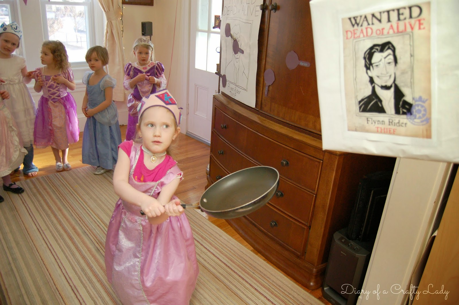 Diary Of A Crafty Lady Our Tangled Rapunzel Birthday Party